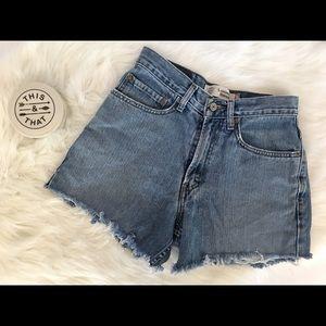 Vintage Levi's High Waisted Cutoff Jeans